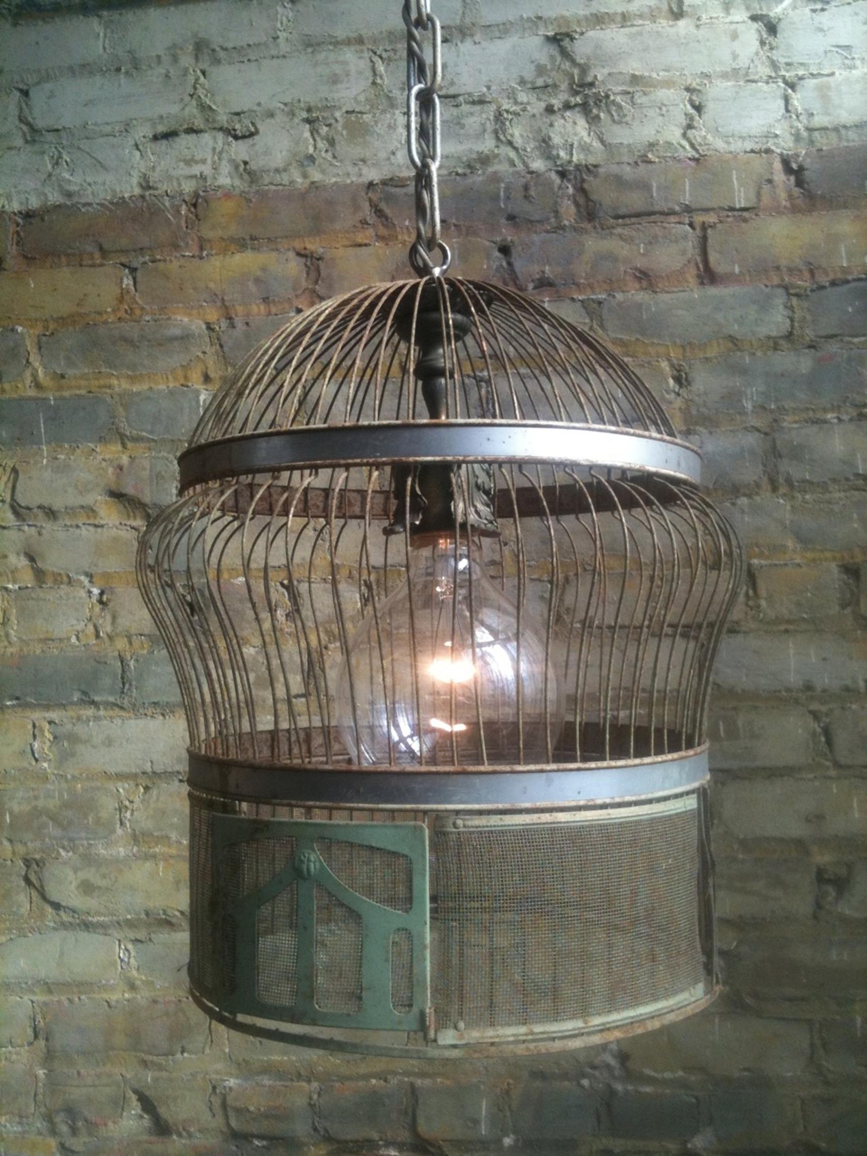 Let 39 s stay cool birdcage lamps vinatge birdcage lanterns - Birdhouse nightlight ...